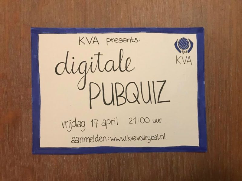 Flyer van de Digitale Pubquiz